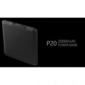 Hame P20 Power Bank 2 Port 20000mAh - Black - 6