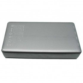 Hame P57D USB Type C Power Bank 2 Port 20000mAh - Gray Silver - 3