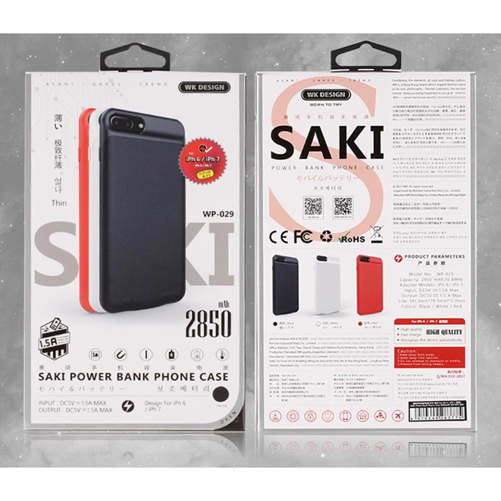 Wk Saki Power Bank 2850mah For Iphone 6 7 Wp 029 Black Airyrooms Silicone Xiaomi Powerbank 10000mah Ter Oem