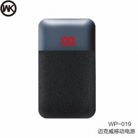 WK MAK Power Bank Dual Port 10000mAh - WP-019 - Black