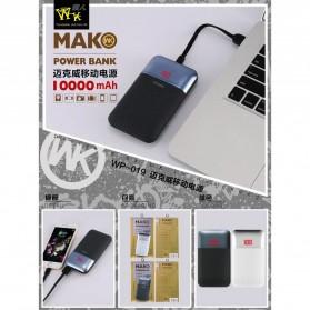 WK MAK Power Bank Dual Port 10000mAh - WP-019 - Black - 2