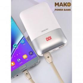 WK MAK Power Bank Dual Port 10000mAh - WP-019 - Black - 3
