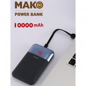 WK MAK Power Bank Dual Port 10000mAh - WP-019 - Black - 4