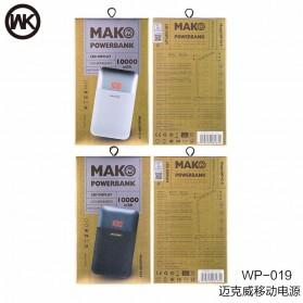 WK MAK Power Bank Dual Port 10000mAh - WP-019 - Black - 8
