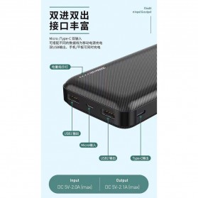 WK Herze Max Series Power Bank 2 Port 20000mAh - WP-117 - Black - 3