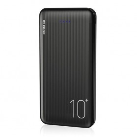 WK Joy Series Power Bank USB Type C 2 Port 10000mAh - WP-129 - Black