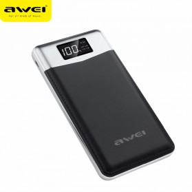 Awei Power Bank 2 Port 10000mAh - P30K - Black