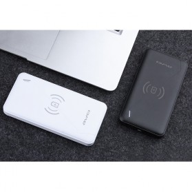 Awei Qi Wireless Charging Power Bank 2 Port 10000mAh - P59K - Black - 3