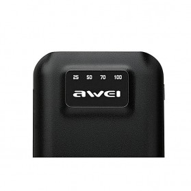 Awei Power Bank 2 Port 10000mAh with Lightning Input Port - P50K - Black - 3