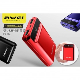 Awei Power Bank 2 Port 10000mAh - P54K - Black - 6