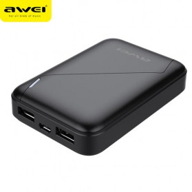 Awei Power Bank 2 Port 7800mAh - P61K - Black - 2