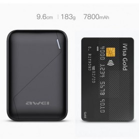 Awei Power Bank 2 Port 7800mAh - P61K - Black - 3