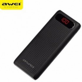 Awei Power Bank 2 Port 14000mAh - P70K - Black
