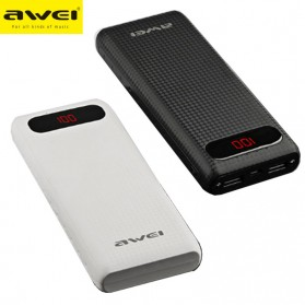 Awei Power Bank 2 Port 20000mAh - P70K - Black - 4