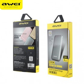 Awei Power Bank Super Slim Micro USB 3A 8000mAh with Lightning Adapter - P20K - Gray - 5