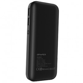 Awei Power Bank 2 Port 10000mAh - P75K - Black - 2