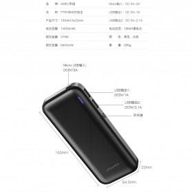 Awei Power Bank 2 Port 10000mAh - P75K - Black - 7