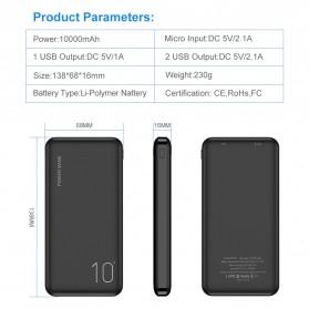Floveme Power Bank Portable Charger 2 Port 10000mAh - FLD1864 - Black - 4
