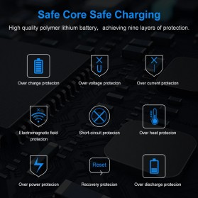 Floveme Power Bank Portable Charger 2 Port 10000mAh - FLD1864 - Black - 5