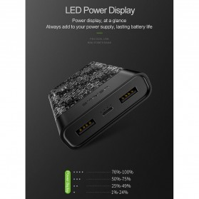 USAMS Mosaic Power Bank 2 Port 2A 10000mAh - US-CD35 - Black - 5