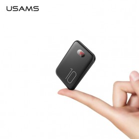 USAMS PB9 Power Bank Mini 2 Port 10000mAh Display LED - US-CD66 - Black - 1
