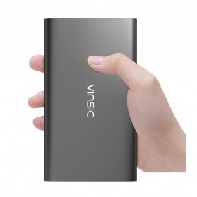 Vinsic Power Bank Ultra Slim Dual USB Port 12000mAh - Alien P11 - Gray - 2