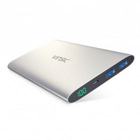 Vinsic Power Bank Ultra Slim Dual USB Port 12000mAh - Alien P11 - Gray - 3