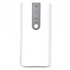 Exchangeable Cell Power Bank Case For 2 PCS 18650 - White