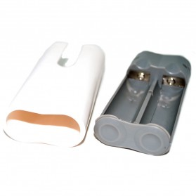 Exchangeable Cell Power Bank Case For 2 PCS 18650 - White - 4