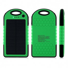 Solar Waterproof Power Bank 5000mAh - Yellow with Black Side - 3