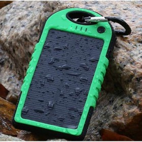 Solar Waterproof Power Bank 5000mAh - Yellow with Black Side - 6