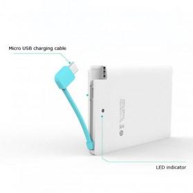 Credit Card Power Bank 3200mAh - 129032K - White - 6