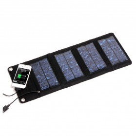 Suaoki Foldable Solar Power 7W with 4 Solar Panel - S07 - Black - 1
