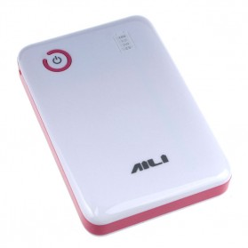AILI Case Power Bank DIY untuk 4 PCS 18650 - White/Pink