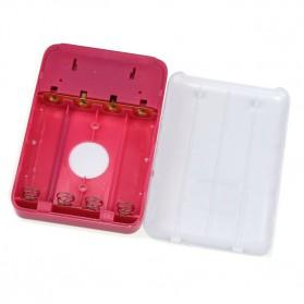 AILI Case Power Bank DIY untuk 4 PCS 18650 - White/Pink - 4