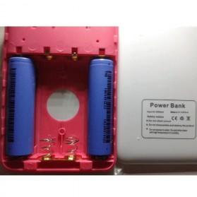 AILI Case Power Bank DIY untuk 4 PCS 18650 - White/Pink - 5