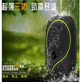 High Capacity Waterproof Power Bank 7800 mAh with LED Flashlight - Black - 7
