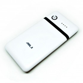 Powerbank - AILI DIY Exchangeable Cell Power Bank Case For 6Pcs 18650 - White/Black