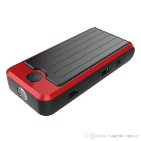 VIGORTHRIVE Portable 13600mAh 12V/5V Dual USB Power Bank, Car Jump Starter & Flashlight - DY05 - Black/Red - 2