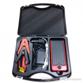 VIGORTHRIVE Portable 13600mAh 12V/5V Dual USB Power Bank, Car Jump Starter & Flashlight - DY05 - Black/Red - 6