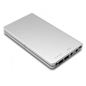 Dual Port Notebook External Battery Portable Charger Power Bank 30000mAh - Silver