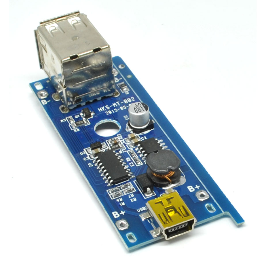 Dual Usb Charger Modul 5v 1a 2a For 18650 Diy Power Bank Model 1 Merakit Dot Com Transmitters