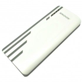 SNOOY Power Bank 3 Color Strip 3 USB Port 10400mAh - Gray