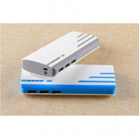 SNOOY Power Bank 3 Color Strip 3 USB Port 10400mAh - Gray - 2