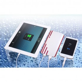 SNOOY Power Bank 3 Color Strip 3 USB Port 10400mAh - Gray - 10