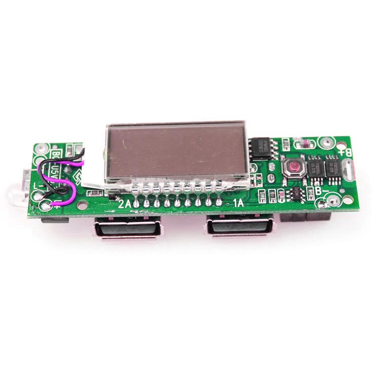 Diy Circuit Board 2 Usb Port Lcd Display 5 Section For Power Bank