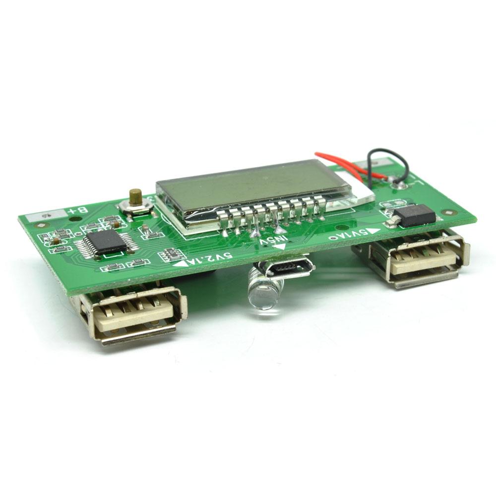 Diy Circuit Board 2 Usb Port Lcd Display 6 Section For Power Bank Merakit Dot Com Transmitters Case 4