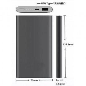 Xiaomi Power Bank Super Thin Portable USB Type C 10000mAh (Replika 1:1) - Gray - 5
