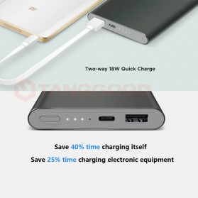 Xiaomi Power Bank Super Thin Portable USB Type C 10000mAh (Replika 1:1) - Gray - 6