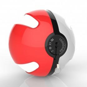 Power Bank Pokemon Pokeball 10000mAh - Red - 2
